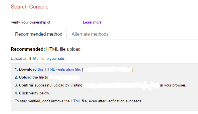 It's mandatory to link Google Console with your website