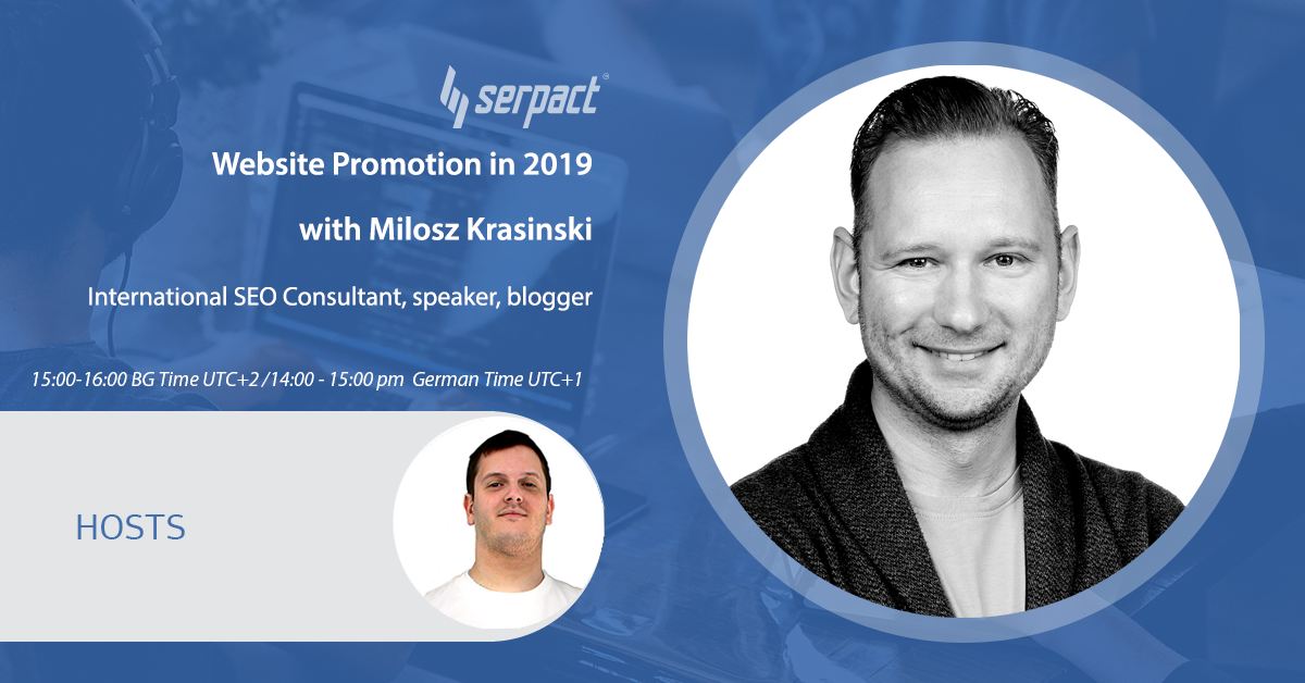 Website Promotion in 2019 With Milosz Krasinski